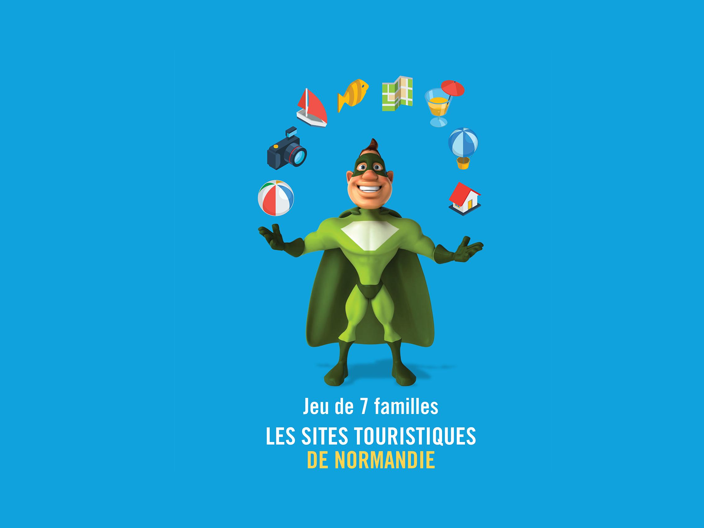Jeu de 7 familles des sites touristiques de Normandie