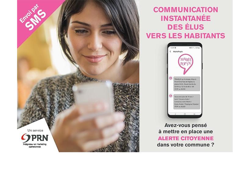 Mairie Pop'In : Outil d'alerte citoyenne par SMS des élus vers leurs habitants